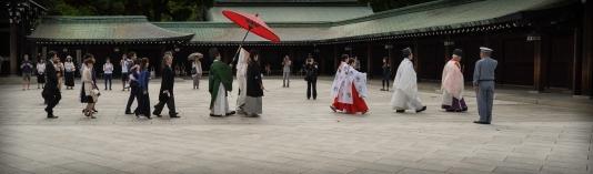 Shinto wedding procession, Meiji Jingu, Tokyo