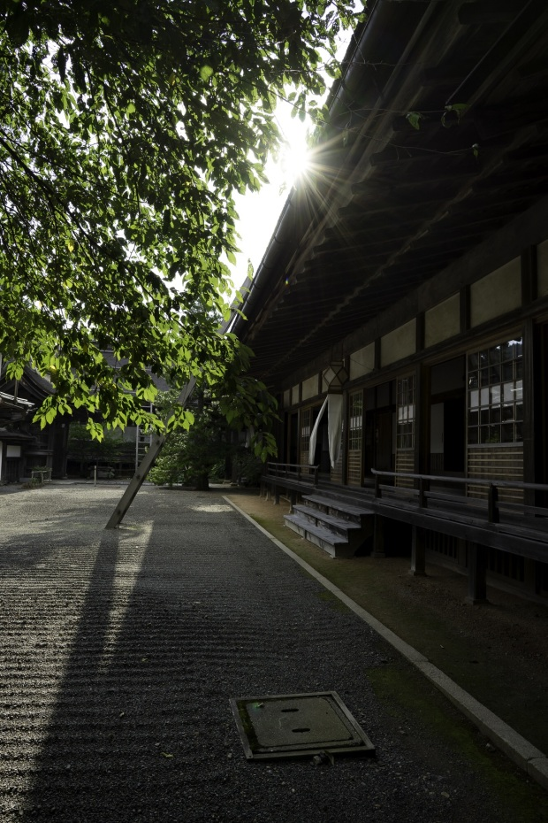 The front of Shojoshin-in, the temple we stayed at in Koyasan.