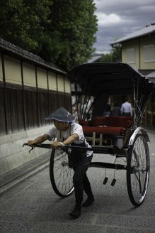 A rickshaw workout, Kyoto, Japan.