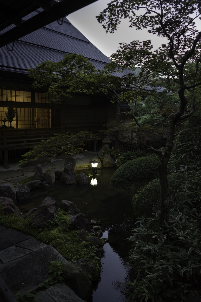 Dawn in the garden at Shojoshin-in, the temple we stayed at in Koyasan.